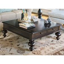 white and dark wood coffee table paula deen home put your feet up square wood