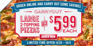 deal domino s 5 99 large two topping pizza october 2016