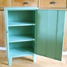 Vintage Metal Cabinet With Legs Seafoam Green Green Kitchen
