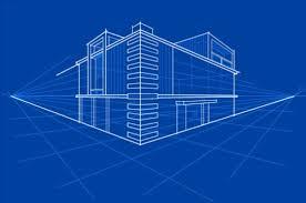 Simple Blueprint Simple Blueprint Building Vectors Design 03 Free Download