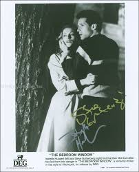 THE BEDROOM WINDOW MOVIE CAST   PHOTOGRAPH SIGNED CO SIGNED BY: STEVE  GUTTENBERG, ISABELLE HUPPERT   HFSID 299979