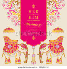 indian wedding card stock images, royalty free images & vectors Vector Hindu Wedding Cards indian wedding card, elephant patterned gold and crystals color hindu wedding cards vector free download
