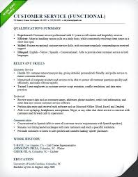 Resume Template For Customer Service Fascinating Sample Resume Skills For Customer Service Qualifications And