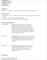 Dance Instructor Resume Unique Dance Instructor Resume Dance Teacher Resume Sample Professional