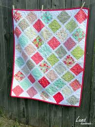 103 best One Charm Pack Quilts images on Pinterest   At home, Bead ... & Simple charm square quilt set on point Adamdwight.com