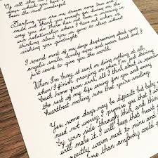 Calligraphy Love Letter: Custom Love Letter On Vintage Style Paper ...