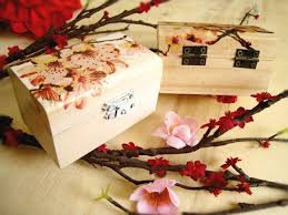How To Decorate Wooden Boxes Personalized Small Sakura Wooden box Cherry Blossom Ring 46