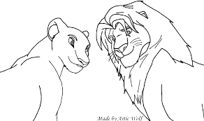 Coloring Pages Lion King Coloring Pages Simba And Nala Play Lion