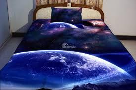 blue celestial body print piece duvet cover sets  beddinginncom