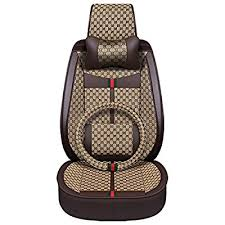 1pc black front seat car seat covers