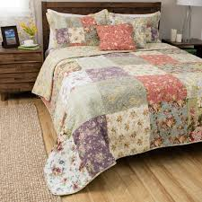 Greenland Home Fashions Blooming Prairie 5-piece Cotton Quilt Set ... & Greenland Home Fashions Blooming Prairie 5-piece Cotton Quilt Set Adamdwight.com