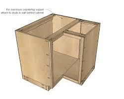 ana white 36 corner base easy reach kitchen cabinet basic model diy projects
