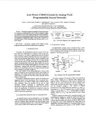Pdf Low Power Cmos Circuits For Analog Vlsi Programmable