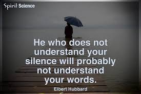 Spirit Science Quotes Enchanting He Who Does Not Understand Your Silence Will Probably Not Understand