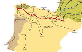 camino de santiago routes in spain Camino De Santiago Map camino de santiago routes camino de santiago mapa