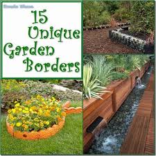 garden borders and edging. 15 Unusual Garden Border Edging For The Borders And R