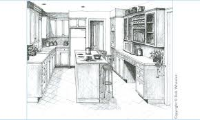 kitchen drawing perspective. Simple Kitchen Kitchen Perspective Drawing With R