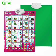 Us 11 26 6 Off Russian Music Alphabet Talking Poster Russia Kids Education Toy Electronic Abc Learning Educational Phonetic Chart Children Gift In