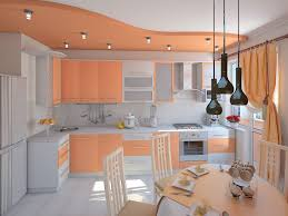 Peach Kitchen Kitchen Paint Color Ideas In White With Cozy Peach Themed Cabinets