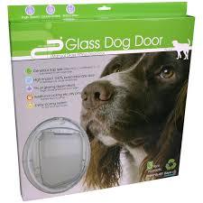 petcorp clear glass dog door medium a143625