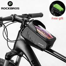 "ROCKBROS <b>Cycling</b> MTB <b>Bike Bicycle Bag</b> 6"" Waterproof Touch ..."