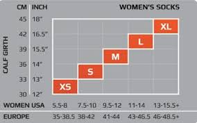 2xu Compression Socks Size Chart Image Sock And