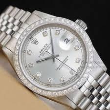mens rolex 16014 datejust 18k white gold ss white diamond dial mens rolex 1600 datejust diamond watch