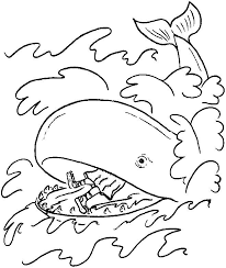 Jonah And The Whale Coloring Page Az Coloring Pages Angel