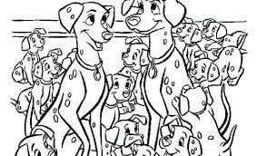 dalmatians coloring pages free of page lucky 101 dalmations book