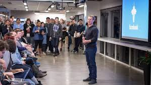 microsoft office in seattle. Facebook CEO Mark Zuckerberg Talks To Staff At The Seattle Office. Microsoft Office In T