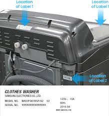 samsung washer recall repair kit.  Repair Find Your Model Number And Serial In Samsung Washer Recall Repair Kit E
