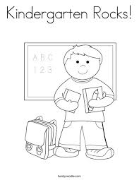 Small Picture Kindergarten Rocks Coloring Page Twisty Noodle