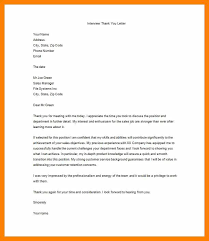 Thank You Resume Letters 7 8 Resume Thank You Letter Example Cingene Org