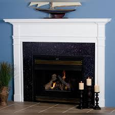 wood fireplace mantel andover view larger shown in poplar paint grade with white paint