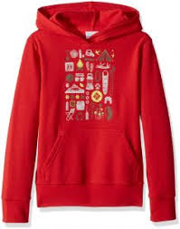 Youth Columbia Size Chart Columbia Little Kids Csc Youth Hoodie Bright Red Xxs