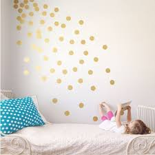Small Picture 100 Gold Metallic Polka Dot Wall StickersWall Decals Vinyl Art