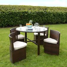 inspiring round wicker patio dining table with summer rattan round chair for modern outdoor dining set