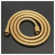 1 5m gold shower head hose long flexible stainless steel bathroom water ag