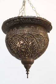 early 19th century antique filigree pierced brass turkish mosque lamp unique ceiling fixture pierced with