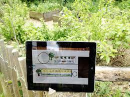 vegetable garden with an ipad app