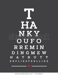 How To Make An Eye Chart Poster Eye Chart Snellen Wall Word Typography Stock Vector Royalty