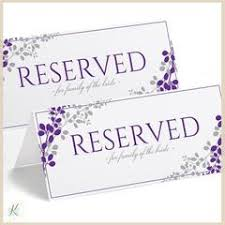 reserved sign templates vines leaves wedding templates