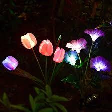 amazing garden lighting flower. Solarmart Outdoor Solar Garden Lights - 2 Pack Powered Lights,  Multi-color Changing Amazing Garden Lighting Flower