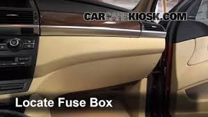 interior fuse box location bmw x bmw x locate interior fuse box and remove cover