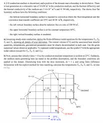 a d conduction um is discretized and a portion of the domain near a boundary is
