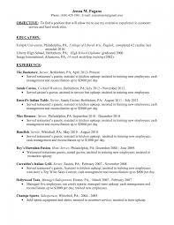 waiter skills resume cipanewsletter fine dining resume waitress resume objective examples server