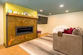 basement fireplace small remodel a direct vent installation