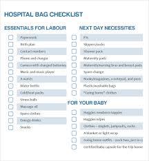 Newborn Checklist Free Excel Templates