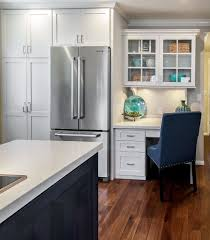 desk in kitchen.  Kitchen Built In Desk Cabinets Kitchen Beach With Cottage Style More And In S