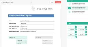 sign and date template document merge zoho forms user guide